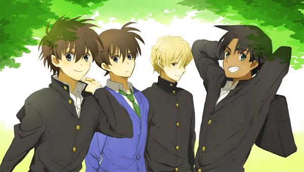 Tags: Anime, Tukemono6, Meitantei Conan, Magic Kaito, Kudou Shinichi, Hakuba Saguru, Kuroba Kaito, Hattori Heiji, Pixiv, Fanart From Pixiv, Facebook Cover, Fanart