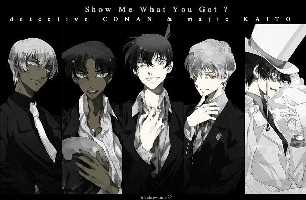Tags: Anime, Conoao968, Meitantei Conan, Magic Kaito, Kuroba Kaito, Hattori Heiji, Amuro Tooru, Kudou Shinichi, Hakuba Saguru, Kaitou Kid, Fanart, Pixiv