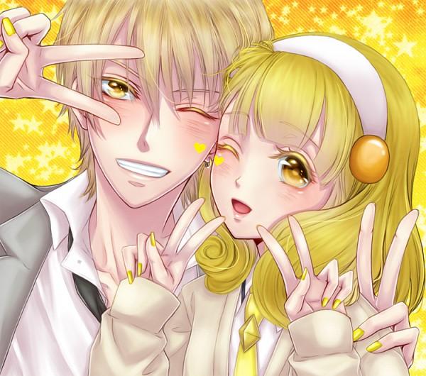 Tags: Anime, Pixiv Id 1916932, Smile Precure!, Kuroko no Basuke, Kise Ryouta, Kise Yayoi, Name Connection, Pixiv, Kaijou High
