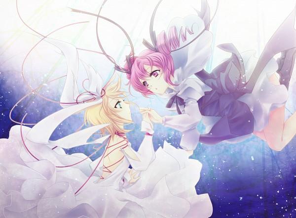Tags: Anime, Levi77, UTAU, VOCALOID, Kasane Teto, Kagamine Rin, Pixiv