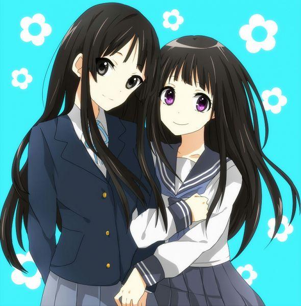 Tags: Anime, Pixiv Id 1464883, K-ON!, Hyouka, Akiyama Mio, Chitanda Eru