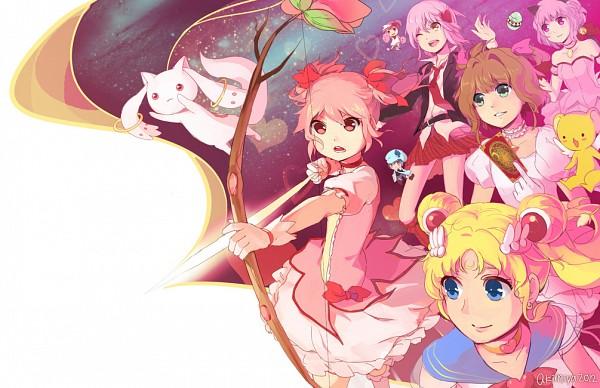Tags: Anime, Akimiya, Tokyo Mew Mew, Cardcaptor Sakura, Bishoujo Senshi Sailor Moon, Mahou Shoujo Madoka☆Magica, Shugo Chara!, Kero-chan, Tsukino Usagi, Kyubee, Kinomoto Sakura, Kaname Madoka, Hinamori Amu