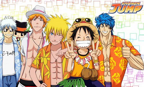 Tags: Anime, Xedor993, Gintama, Katekyo Hitman REBORN!, ONE PIECE, Toriko, BLEACH, NARUTO, Uzumaki Naruto, Sakata Gintoki, Monkey D. Luffy, Toriko (Character), Kurosaki Ichigo
