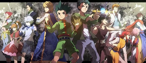 Tags: Anime, Ouri, Hunter x Hunter, Yu Yu Hakusho, Biscuit Krueger, Kurama, Genkai (Yu Yu Hakusho), Urameshi Yuusuke, Gon Freaks, Koenma, Kurapika, Kuwabara Kazuma, Killua Zoldyck