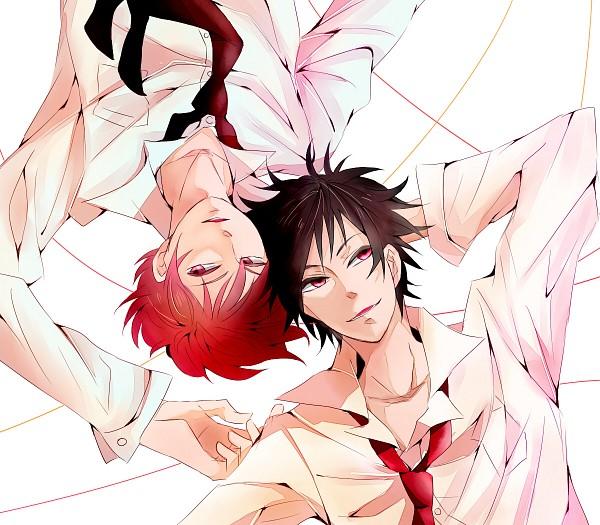Tags: Anime, Pixiv Id 4667908, Kuroko no Basuke, DURARARA!!, Orihara Izaya, Akashi Seijuurou, Fanart, Fanart From Pixiv, Pixiv