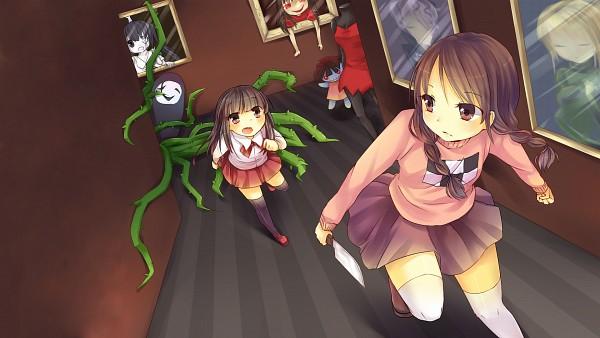 Tags: Anime, Mary-ko, Ib, Yume Nikki, Uboa, Ib (Character), Poniko, Death of the Individual, Garry, Monoko, Madotsuki, Lady in Red, Mary (Ib)