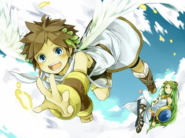 Tags: Anime, Pixiv Id 335456, Kid Icarus, Kirby Series, Pit, Kirby, Palutena, Pixiv, Fanart, Fanart From Pixiv