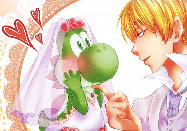 Tags: Anime, Pixiv Id 4170994, Kuroko no Basuke, Super Mario Bros., Kise Ryouta, Yoshi