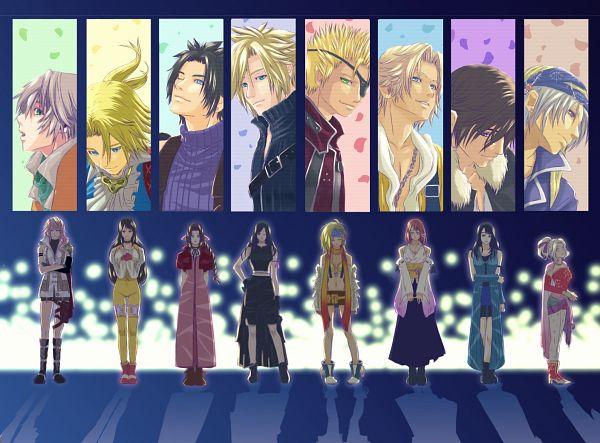 Tags: Anime, Pixiv Id 3969173, Final Fantasy VI, Final Fantasy X, Final Fantasy VII, Final Fantasy IX, Final Fantasy XIII, Final Fantasy VIII, Gippal, Squall Leonhart, Zack Fair, Tina Branford, Cloud Strife