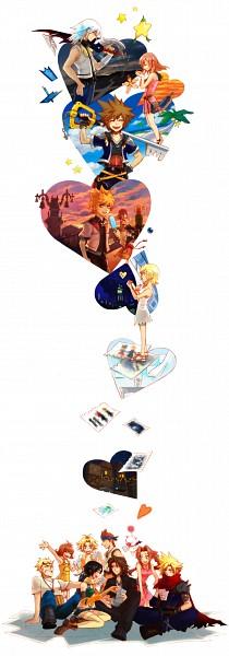 Tags: Anime, Pixiv Id 1282159, Final Fantasy VII, Final Fantasy VIII, Final Fantasy X, Kingdom Hearts, Kingdom Hearts II, Kingdom Hearts 358/2 Days, Roxas, Riku (Kingdom Hearts), Yuffie Kisaragi, Cid Highwind, Sora (Kingdom Hearts)