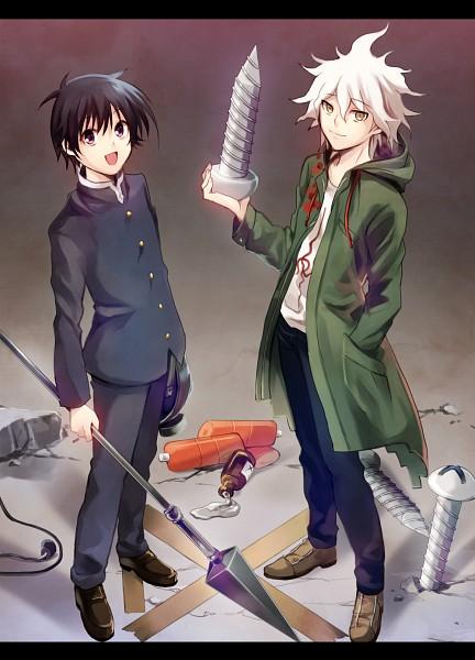 Tags: Anime, Fujishima Akira, Medaka Box, Super Danganronpa 2, Kumagawa Misogi, Komaeda Nagito, Fanart, Fanart From Pixiv, Mobile Wallpaper, Pixiv