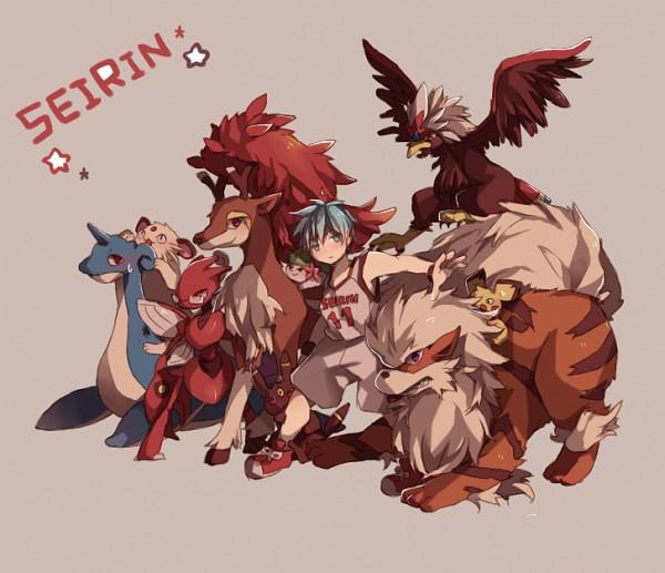 Tags: Anime, Syerii, Kuroko no Basuke, Pokémon, Izuki Shun, Lapras, Sawsbuck, Hyuuga Junpei, Umbreon, Persian, Pichu, Kagami Taiga, Scizor