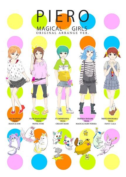 Tags: Anime, Pixiv Id 315209, Mahou no Star Magical Emi, Mahou no Yousei Persia, Mahou no Idol Pastel Yumi, Mahou no Stage Fancy Lala, Mahou no Tenshi Creamy Mami, Kakimaru, Morisawa Yuu, Keshimaru, Topo, Pastel Yumi, Shinohara Miho