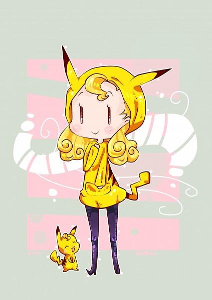 Tags: Anime, Kiki (Pixiv3423771), Ojamajo DoReMi, Pokémon, Pikachu, Majo Monroe, Pikachu (Cosplay), Pokémon (Cosplay), Fanart, Pixiv