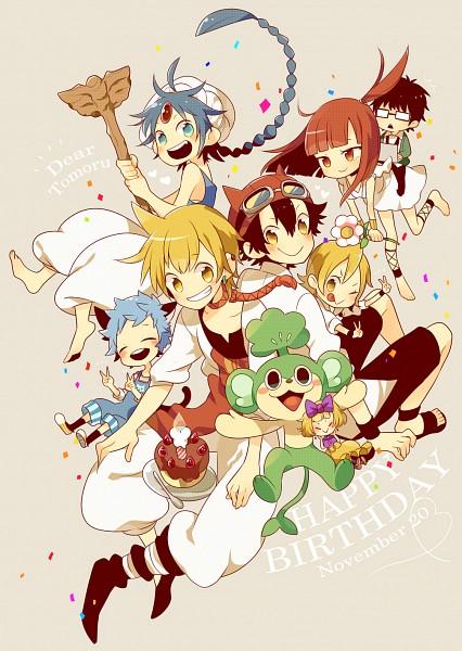 Tags: Anime, Wakanagi Eku, SKET Dance, MAGI: The Labyrinth of Magic, Pokémon, Aladdin (Magi), Usui Kazuyoshi, Pansage, Morgiana, Fujisaki Yusuke, Ali Baba Saluja, Onizuka Hime, Turban
