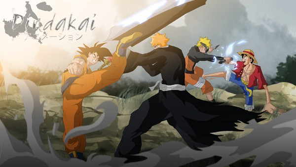 Tags: Anime, Dindakai, Toei Animation, ONE PIECE, DRAGON BALL, BLEACH, NARUTO, Kurosaki Ichigo, Uzumaki Naruto, Son Goku (DRAGON BALL), Monkey D. Luffy, Company Connection, HD Wallpaper