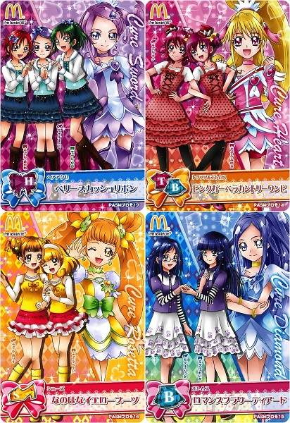 Tags: Anime, Bandai Visual, Dokidoki! Precure, Smile Precure!, Cure Heart, Hino Akane, Aida Mana, Hoshizora Miyuki, Cure Rosetta, Kise Yayoi, Hishikawa Rikka, Cure Sword, Aoki Reika
