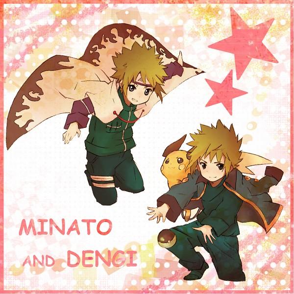 Tags: Anime, Bukiko, Pokémon, NARUTO, Namikaze Minato, Raichu, Denji (Pokémon), Characteristic Connection, Fanart, Pixiv
