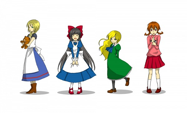 Tags: Anime, Pixiv Id 4880342, Majo no Ie, Yume Nikki, Ib, Mad Father, Madotsuki, Viola (Majo no Ie), Mary (Ib), Aya Dravis, Pixiv, Fanart, Fanart From Pixiv