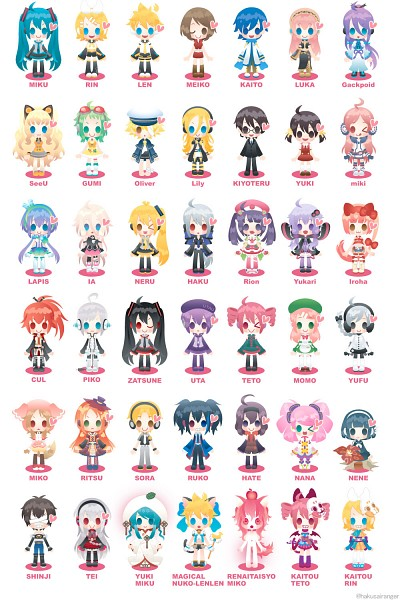 Tags: Anime, Hakusairanger, UTAU, Voiceroid, VOCALOID, Kamui Gakupo, Sekka Yufu, Utatane Piko, MEIKO (VOCALOID), IA, Hiyama Kiyoteru, Nene Nene, Aoki Lapis