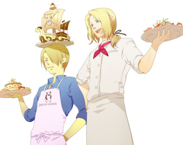 Tags: Anime, Gpnet, Axis Powers: Hetalia, ONE PIECE, Sanji, France, Going Merry, Chef Uniform, Artist Request