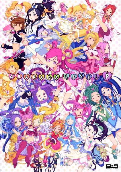 Tags: Anime, Kuroboshi Kouhaku, Futari wa Precure Splash Star, Yes! Precure 5, Heartcatch Precure!, Fresh Precure!, Suite Precure♪, Futari wa Precure, GRANADA LEVEL P, Cure Aqua, Tsukikage Yuri, Cure Peach, Cure Muse