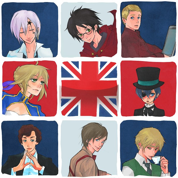 Tags: Anime, Kaiseiyuubi, Doctor Who, Sherlock BBC, D.Gray-man, Axis Powers: Hetalia, Kuroshitsuji, Sherlock Holmes, Harry Potter, Fate/stay night, Eleventh Doctor, Allen Walker, United Kingdom