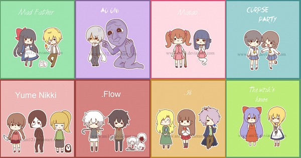 Tags: Anime, Ani12, Ib, Yume Nikki, Misao, .flow, Mad Father, Majo no Ie, Ao Oni, Corpse Party, Dio (Mad Father), Madotsuki, Shinohara Seiko