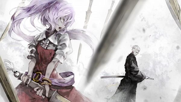 Tags: Anime, Banpai Akira, Touhou, Devil May Cry, Vergil (Devil May Cry), Watatsuki no Yorihime, Fanart, HD Wallpaper, Facebook Cover, Wallpaper