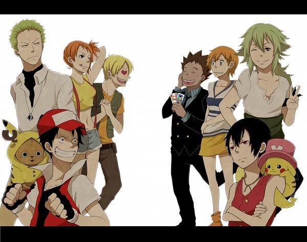 Tags: Anime, Mcgooen, ONE PIECE, Pokémon, Tony Tony Chopper, Nami (ONE PIECE), Kasumi (Pokémon), Monkey D. Luffy, Takeshi (Pokémon), Roronoa Zoro, N (Pokémon), Sanji, Red (Pokémon)