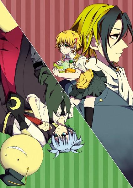 Tags: Anime, Pixiv Id 2144051, Ansatsu Kyoushitsu, Majin Tantei Nougami Neuro, Shiota Nagisa, Nougami Neuro, Koro-sensei, Katsuragi Yako, Creator Connection, Pixiv, Mobile Wallpaper, Fanart