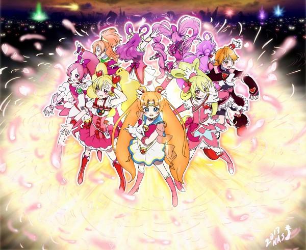 Tags: Anime, Pixiv Id 263128, Dokidoki! Precure, Futari wa Precure Splash Star, Smile Precure!, Bishoujo Senshi Sailor Moon, Heartcatch Precure!, Yes! Precure 5, Fresh Precure!, Futari wa Precure, Suite Precure♪, Cure Bloom, Sailor Moon (Character)