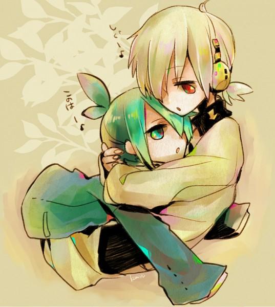 """Tags: Anime, Komyu, Kagerou Project, Puyo Puyo, Sig (Puyo Puyo), Kokonose """"Konoha"""" Haruka, Fanart From Pixiv, Pixiv, Fanart"""