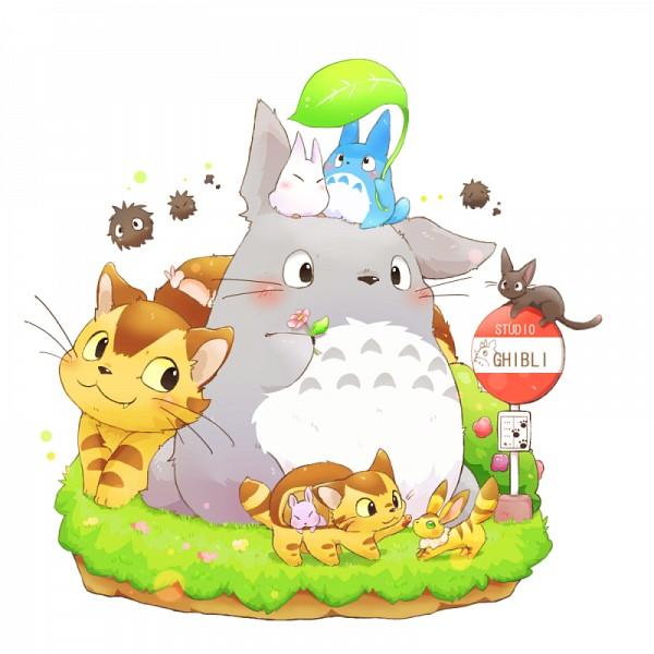 Tags: Anime, ushiinu, Majo no Takkyuubin, Kaze no Tani no Nausicaä, Sen to Chihiro no Kamikakushi, Tonari no Totoro, Chu-totoro, Jiji (Majo no Takkyuubin), Teto, Totoro, Cat Bus, Susuwatari, Boh