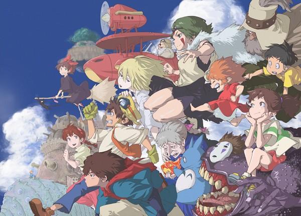 Tags: Anime, Horikoshi Kouhei, Sen to Chihiro no Kamikakushi, Kurenai no Buta, Tonari no Totoro, Howl no Ugoku Shiro, Majo no Takkyuubin, Mononoke Hime, Kaze no Tani no Nausicaä, Gake no Ue no Ponyo, Tenkuu no Shiro Laputa, Ogino Chihiro, Porco Rosso (Character)