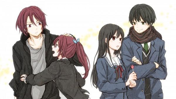 Tags: Anime, Hachiko, Kyoukai no Kanata, Free!, Matsuoka Gou, Matsuoka Rin, Nase Hiroomi, Nase Mitsuki, Company Connection, Fanart From Pixiv, Facebook Cover, Pixiv, Fanart