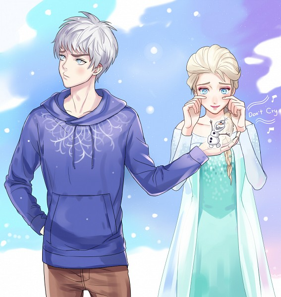 Tags: Anime, Setsuna1111, Frozen (Disney), Rise of the Guardians, Olaf the Snowman, Jack Frost, Elsa the Snow Queen, Disney, deviantART, Dreamworks, Jelsa