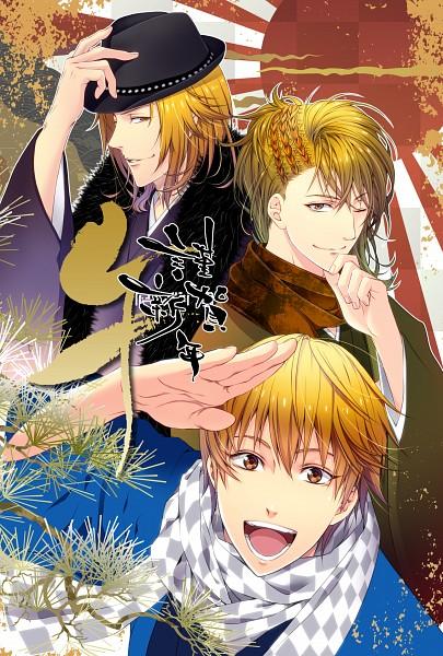 Tags: Anime, Pixiv Id 5821367, Kuroko no Basuke, Tokimeki Restaurant, Date Kyoya, Kise Ryouta, Mobile Wallpaper, X.I.P.