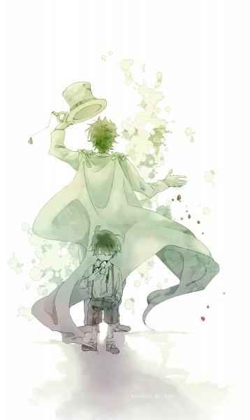 Tags: Anime, rain_drops-ame, Meitantei Conan, Magic Kaito, Kuroba Kaito, Kaitou Kid, Edogawa Conan, Fanart, Mobile Wallpaper