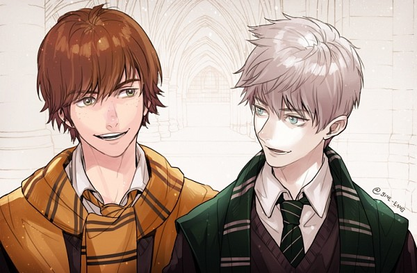 Tags: Anime, Sine, How to Train Your Dragon, Rise of the Guardians, Jack Frost, Hiccup Horrendous Haddock III, V-neck, Harry Potter (Cosplay), Harry Potter (Parody), Fanart, Fanart From DeviantART, deviantART, Hufflepuff House