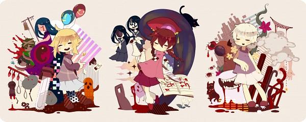 Tags: Anime, Pixiv Id 419413, Yume Nikki, Yume 2kki, .flow, Urotsuki, Sabitsuki, Nopperabou Witch, Madotsuki, Mars-san (Yume Nikki), Tako Otoko, Eye Man (Yume Nikki), Tokuto-kun