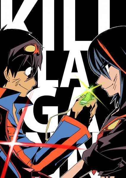 Tags: Anime, Fare, Tengen Toppa Gurren-Lagann, KILL la KILL, Simon (Tengen Toppa Gurren-Lagann), Matoi Ryuuko, Creator Connection, Mobile Wallpaper, PNG Conversion, Fanart
