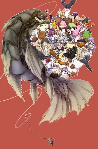 Tags: Anime, Kono Sanorou, SpongeBob SquarePants, Mahou Shoujo Madoka☆Magica, Gintama, Sen to Chihiro no Kamikakushi, Monster Hunter Series, Pokémon, Angel Beats!, CLANNAD, Hinata Hideki, Takamatsu (Angel Beats!), Ooyama (Angel Beats!)