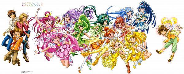Tags: Anime, Kawamura Toshie, Yes! Precure 5, Smile Precure!, Precure All Stars, Coco (Pretty Cure), Cure Peace, Yumehara Nozomi, Cure Mint, Hino Akane, Mimino Kurumi, Cure March, Kasugano Urara