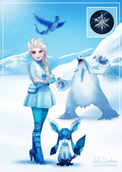 Tags: Anime, Isaiah K. Stephens, Frozen (Disney), Pokémon, Articuno, Glaceon, Beartic, Elsa the Snow Queen, Fanart From DeviantART, deviantART, Legendary Pokémon, Disney, Fanart