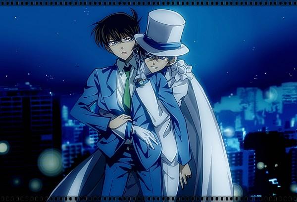 Tags: Anime, Pixiv Id 9928640, Meitantei Conan, Magic Kaito, Kuroba Kaito, Kudou Shinichi, Kaitou Kid, City Lights, Fanart From Pixiv, Fanart, Pixiv