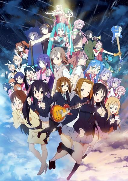 Tags: Anime, Nagareboshi, FLCL, Suzumiya Haruhi no Yuuutsu, K-ON!, Lucky☆Star, Macross Frontier, Monogatari, To Aru Majutsu no Index, So Ra No Wo To, VOCALOID, Nakano Azusa, Hiiragi Kagami