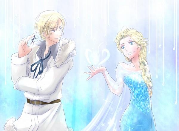 Tags: Anime, Pixiv Id 1524136, Axis Powers: Hetalia, Frozen (Disney), Elsa the Snow Queen, Norway