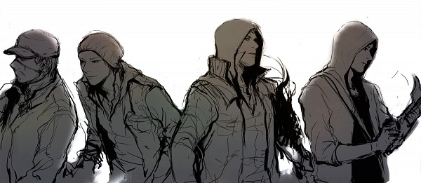 Tags: Anime, Pixiv Id 1214399, Watch Dogs, Assassin's Creed II, Infamous, Assassin's Creed, Prototype, Aiden Pearce, Desmond Miles, Delsin Rowe, Alex Mercer, Facebook Cover