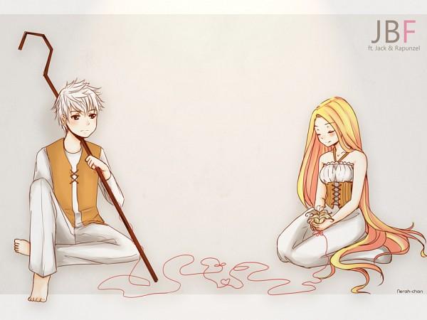 Tags: Anime, Nerah-chan, Rapunzel, Tangled (Disney), Rise of the Guardians, Jack Frost, Rapunzel (Tangled), Just Be Friends, deviantART, Tumblr, Fanart From DeviantART, Wallpaper, Dreamworks